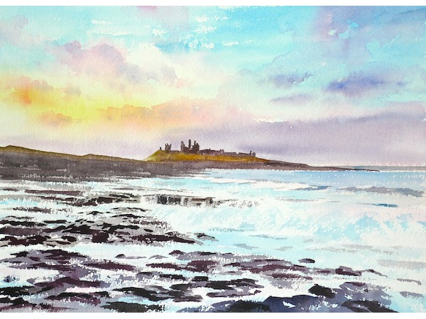 Dunstanburgh Castle Summer Evening is near Seaton Delaval Hall