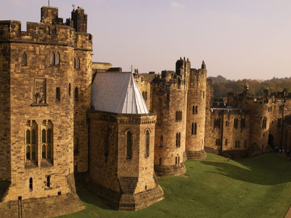 Alnwick Castle from Outer Bailey