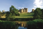 Alnwick Castle is near Garden Cottage, Lumbylaw