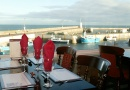 Table view from Bamburgh Castle Inn is near Beadnell Towers