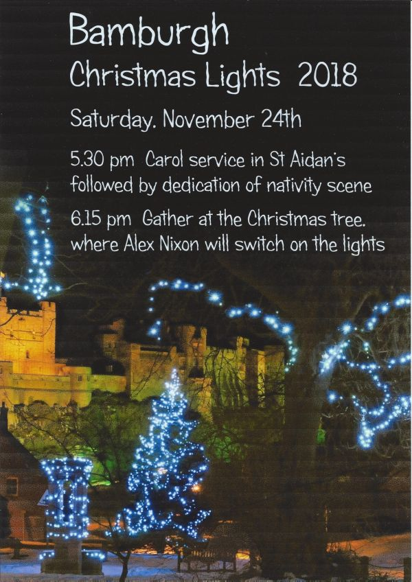 Bamburgh Christmas lights