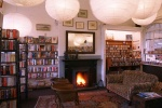 cosy fireplace is near Eshott Hall