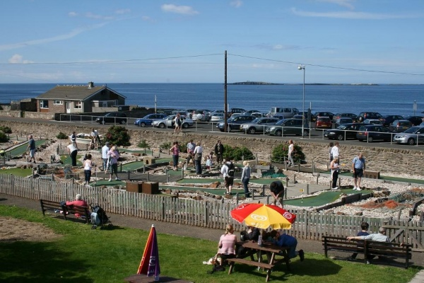 Crazy golf at Seahouses is near Bamburgh Castle Inn