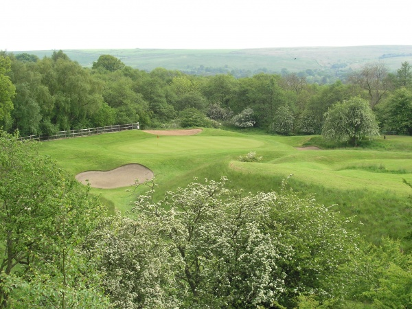Hole 14 par 3 - Hareshaw Linn is near The Holly Bush Inn