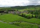 Aerial View of Burnfoot Holida Cottages is near Cragside House, Gardens and Estate