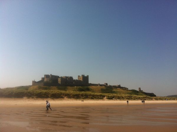 Bamburgh Beach- 15 minutes by car from Causeway Barn