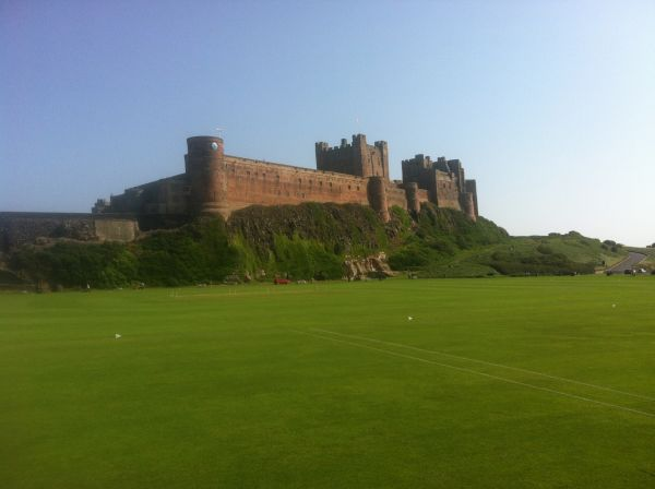 Bamburgh castle and cricket ground