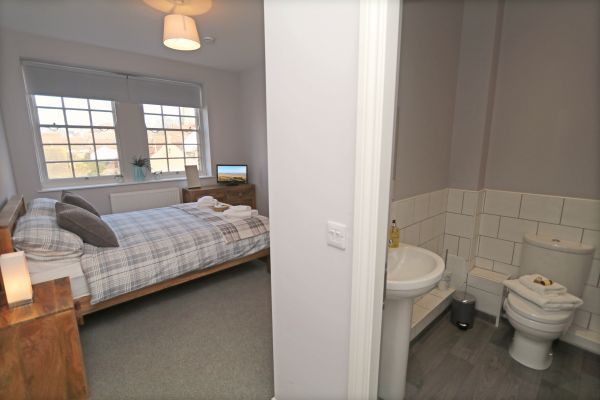 Charles Dickens House, Alnmouth - master and en-suite shower room