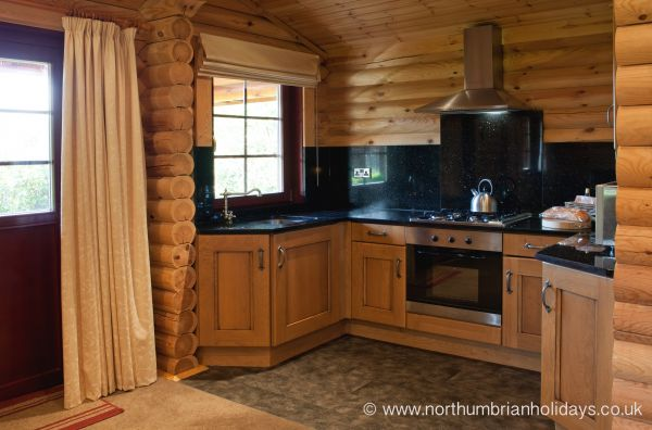 Kitchen Area of Log Cabin