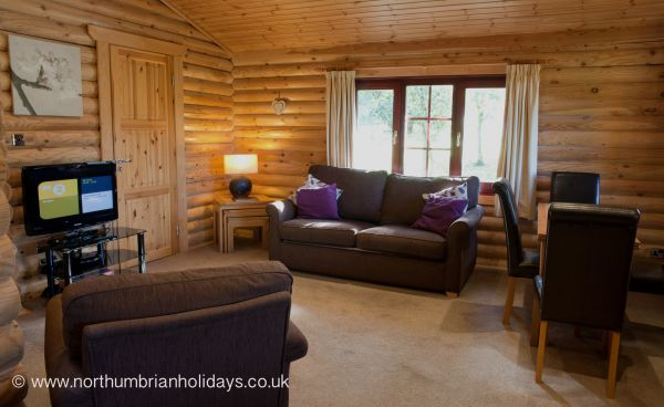 Living Area of Log Cabin