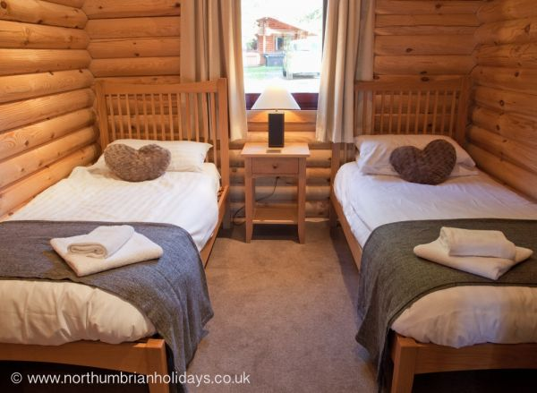 Twin Beds Log Cabin