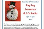 Christmas rag rug workshop