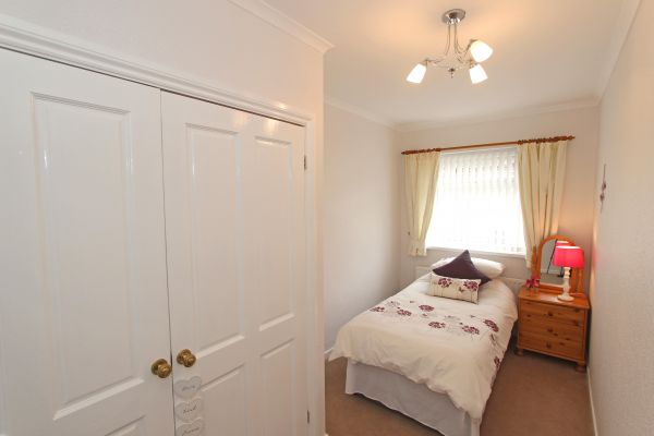 Coble Cottage, single bedroom with double wardrobe