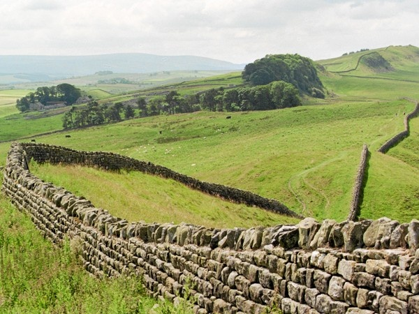 Approaching Housesteads on the Hadrian's Wall Path