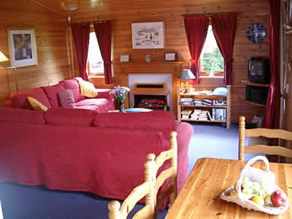 Inside Craster Pine Lodges