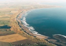 Aerial shot of Druridge Bay