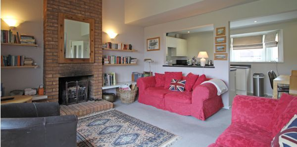 cosy lounge at Dunes Cottage