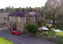 Outside the Dyvels Inn Restaurant in Corbridge is near The Northumbrian Antiques and Collectors Fair
