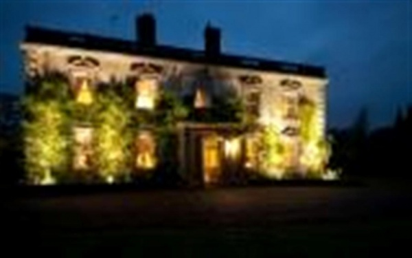 Eshott Hall at night