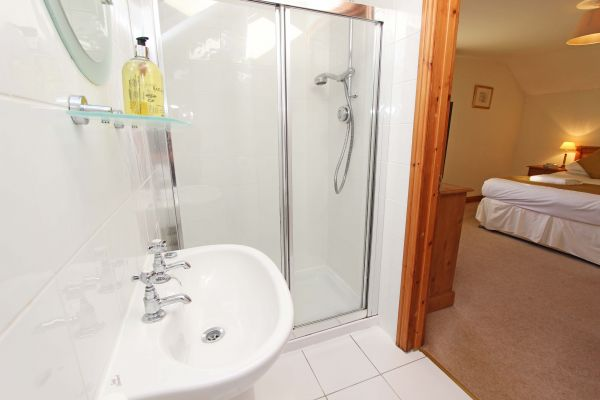 Modern en-suite shower room