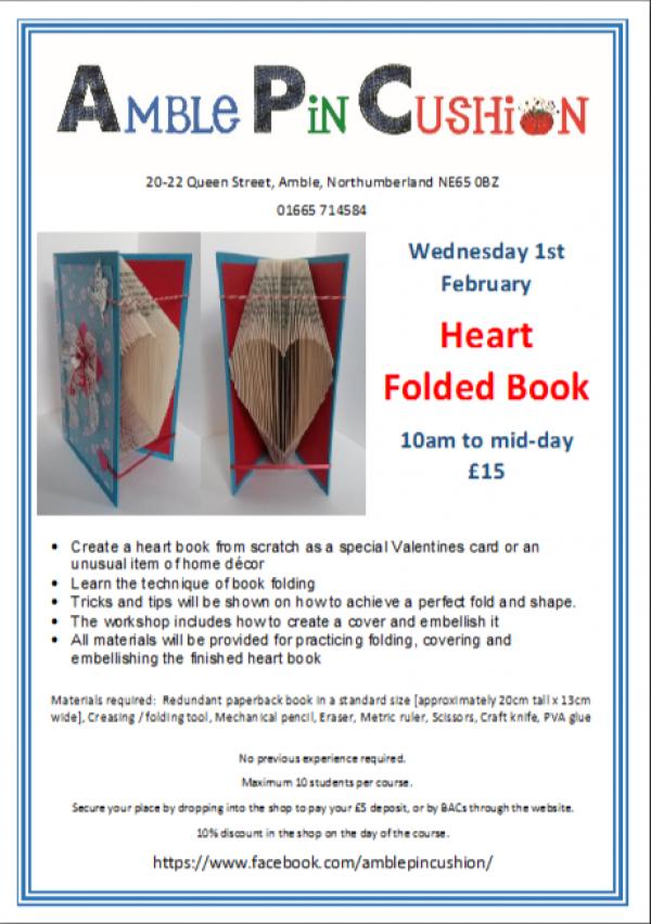 Folded Heart Book workshop course
