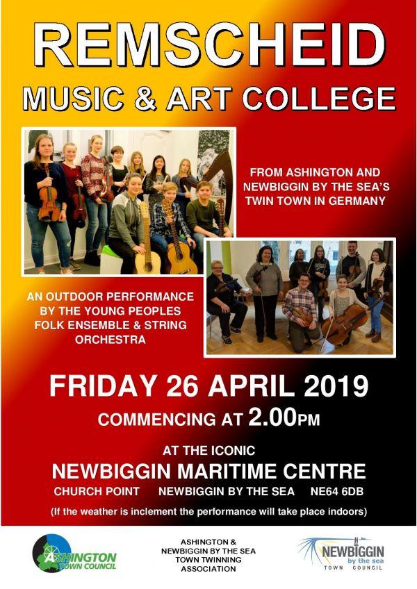 German Orchestra visiting Newbiggin by the Sea