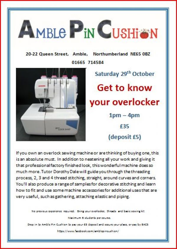 Get to know your overlocker workshop