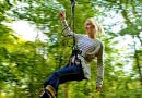 Along the Zip Wire at Go Ape Matfen is near The Northumbrian Antiques and Collectors Fair