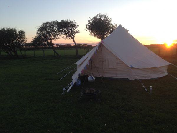 Bell Tent Sunset