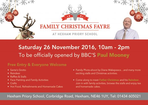 Hexham Priory School Christmas Fayre