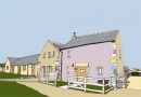 Artists impression of High Broadwood Hall Cottages