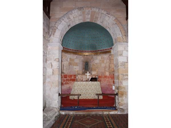 Interior of Holy Trinity, Old Bewick