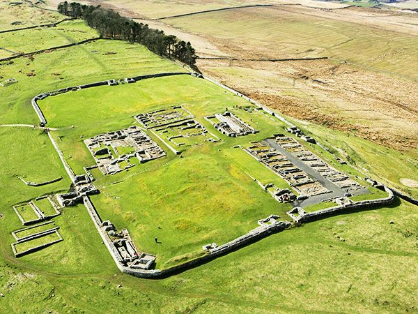 Housesteads from above