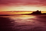 Bamburgh Castle is near Lindisfarne Castle