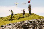Kite Flying at Housesteads Roman Fort