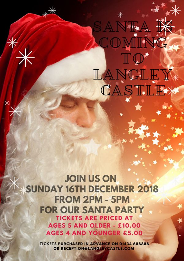 Langley Castle Hotel Children Santa Party