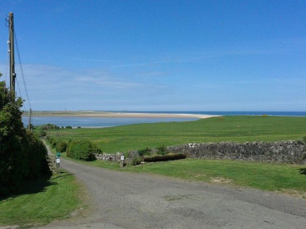 View across Budle Bay towards Lindisfarne