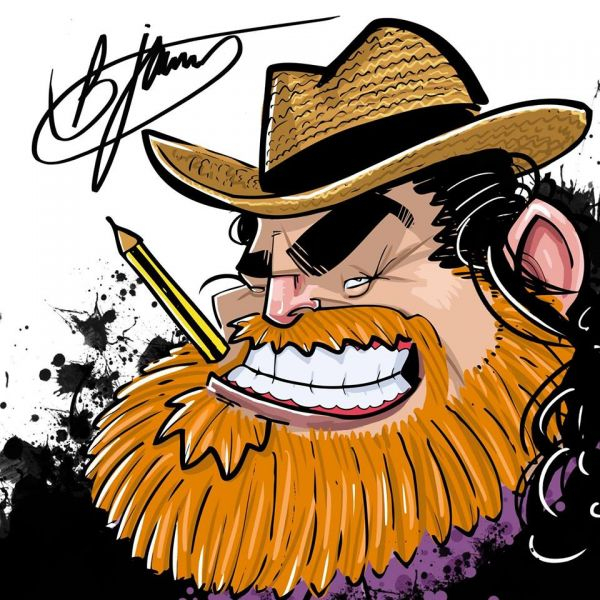 Learn how to draw a caricature with Barrie James
