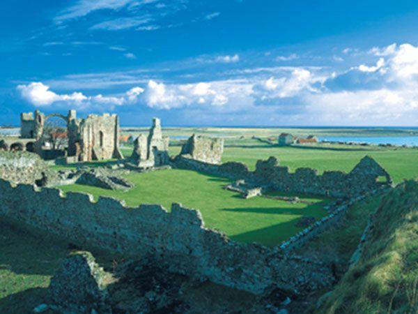 Lindisfarne from afar