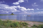 Lindisfarne is near Berwick Elizabethan Town Walls