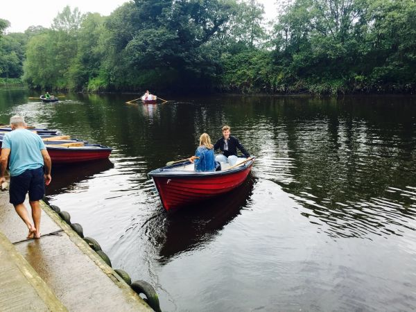 Rowing down the River Coquet