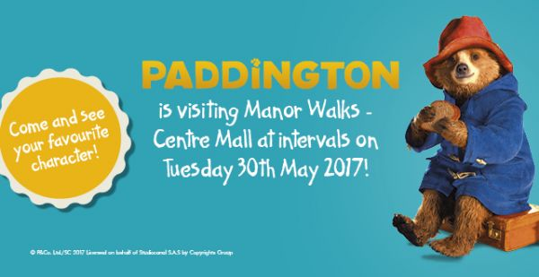 Paddington™ is visiting Manor Walks – Centre Mall for story time!