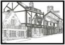 Sketch of Red Lion Inn in Alnmouth is near Old Barns Farmhouse Holiday Cottage
