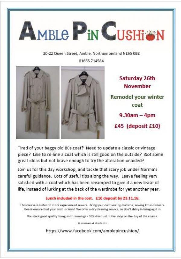 Remodel your winter coat workshop