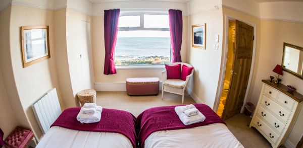 twin bedroom and view