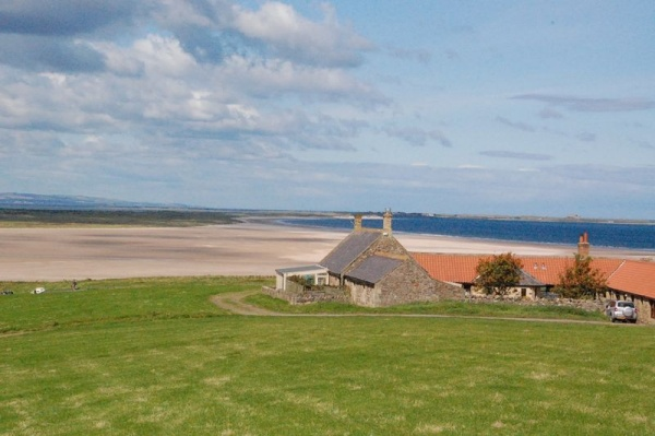 Outside Seal Waters is near Lindisfarne Castle