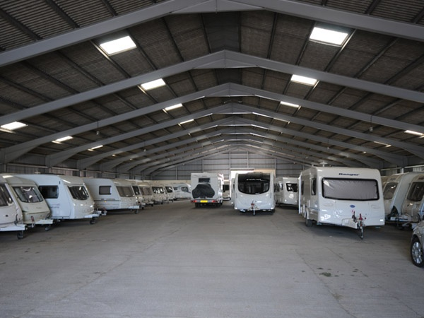 Indoor caravan storage