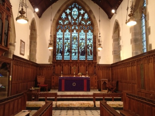 Interior of St Cuthberts at Greenhead