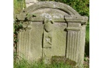 Listed 18th Century Tombstone is near Corbett Cottage