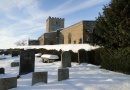 St Mary Magdalene in the snow